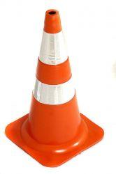 Cone Emborrachado 75 Cm Laranja E Branco Nbr15071